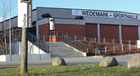 Wedemarkhalle beflaggt